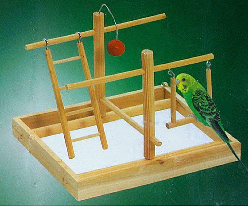 Vogelspielplatz aus Naturholz