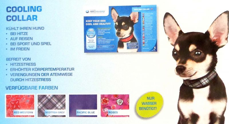 Kühlhalsband Cooling Collar Aqua Coolkeeper für Hunde