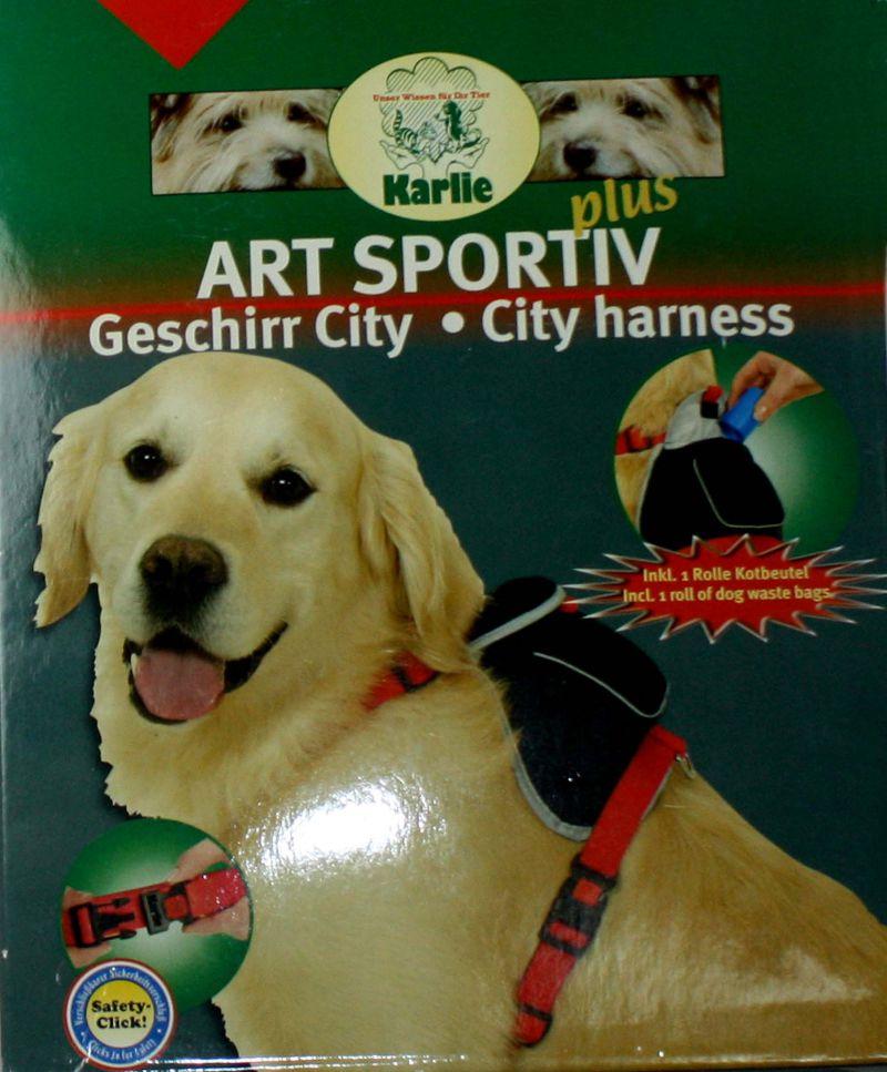 City Art Hundegeschirr mit Packtasche