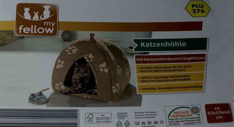 Katzenhöhle mit herausnehmbarem Liegekissen