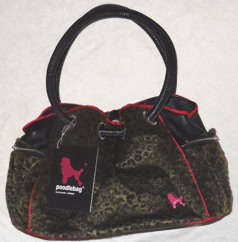 Poodlebag Schultertasche Funkyline JUNGLE Tuesday green